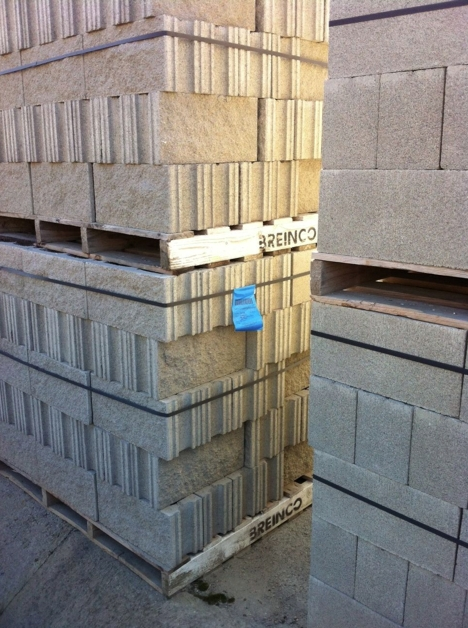 Identification split bloc beton